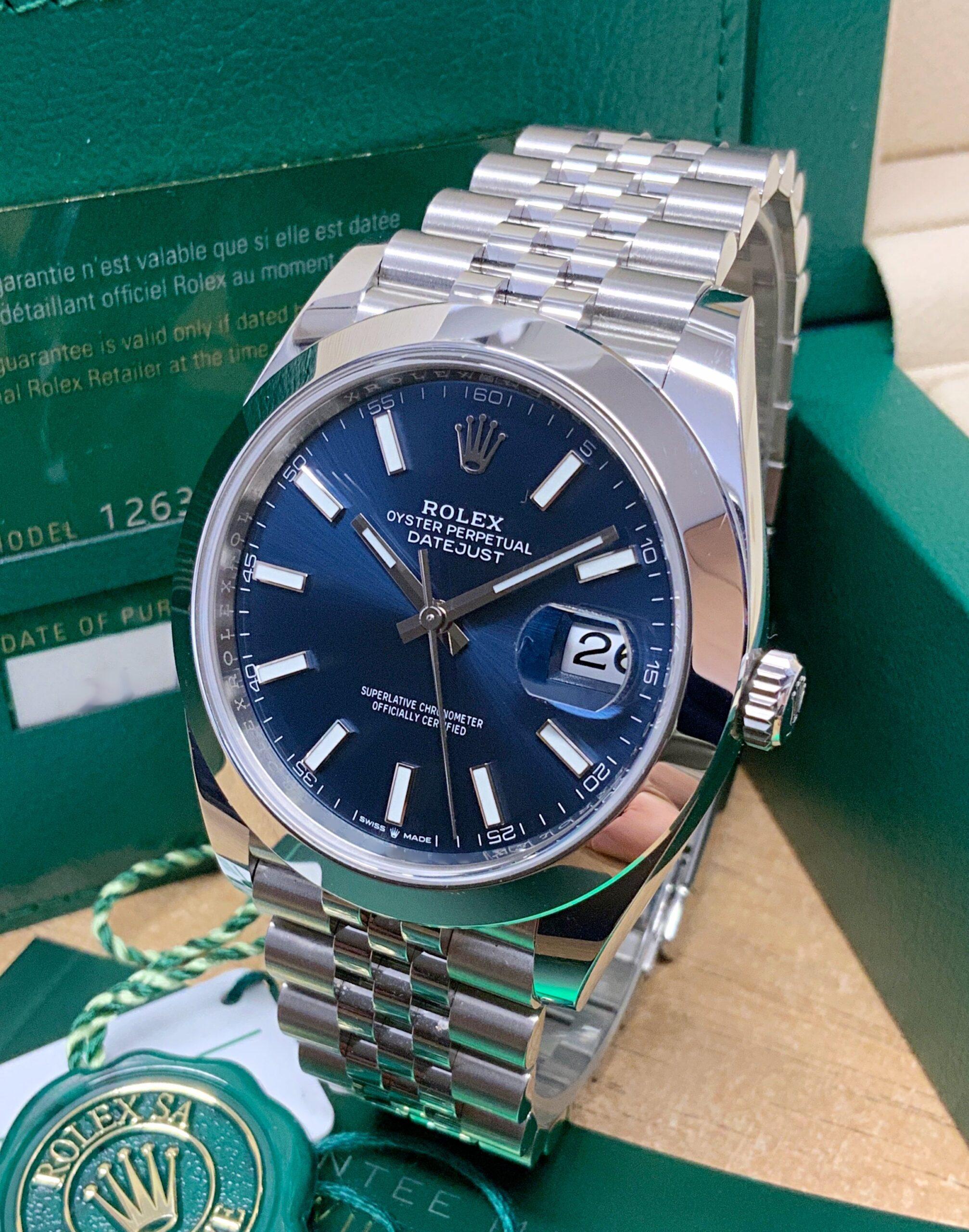 Rolex replica datejust 41 126300 blue dial orologio replica copia